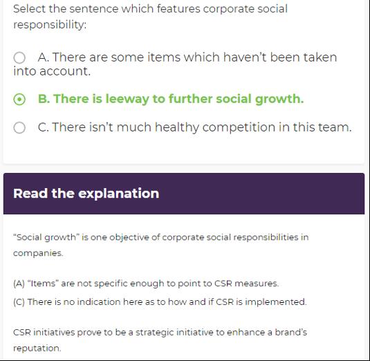 Business English communication course: online exercises