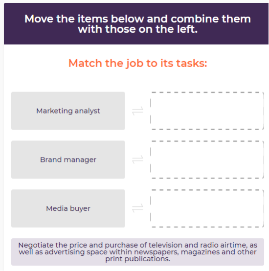 Practice your marketing skills with online exercises